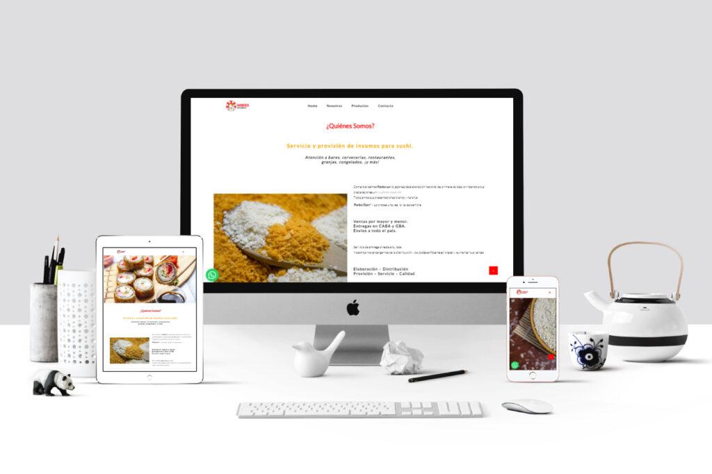 Maneku Insumos - Sitio web
