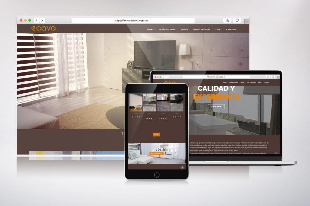 Ecava - Sitio web